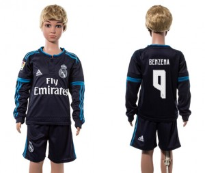 Niños Camiseta del 9# Real Madrid Manga Larga 2015/2016