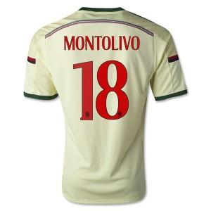 Camiseta nueva del AC Milan 2014/2015 Equipacion Montolivo Tercera