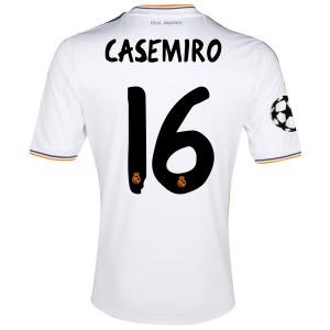 Camiseta de Real Madrid 2013/2014 Primera Casemiro Equipacion