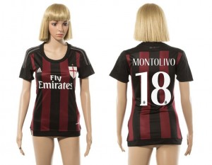 Camiseta nueva AC Milan Mujer 18 2015/2016