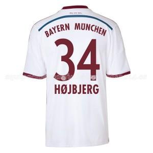 Camiseta nueva del Bayern Munich 2014/2015 Equipacion Hojbjerg Segunda