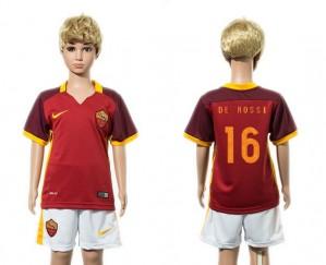 Camiseta de AS Roma 2015/2016 16 Niños