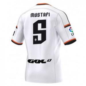 Camiseta del Shkodran Mustafi Valencia Primera Equipacion 2014/2015