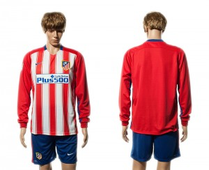 Camiseta de Atletico Madrid 15/16 Primera Manga Larga