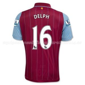Camiseta Aston Villa Delph Primera Equipacion 2014/15