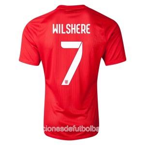 Camiseta Inglaterra de la Seleccion Wilshere Segunda WC2014