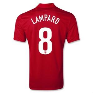 Camiseta nueva del Inglaterra de la Seleccion 2013/2014 Lampard Segunda