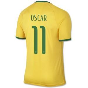 Camiseta Brasil de la Seleccion Oscar Primera WC2014