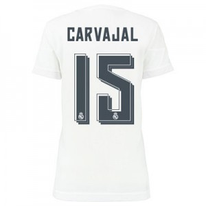 Camiseta de Real Madrid 2015/2016 Primera CARVAJAL Equipacion Mujer