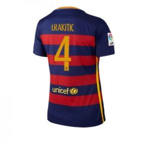 Camiseta Barcelona Numero 04 Primera Equipacion 2015/2016 Mujer