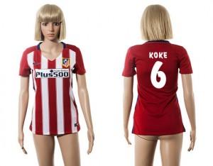 Mujer Camiseta del 6 Atletico Madrid 2015/2016