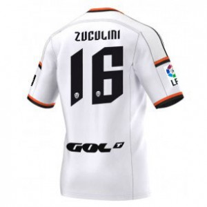 Camiseta nueva del Valencia 2014/2015 Equipacion Bruno Zuculini Primera