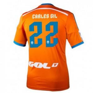 Camiseta del Carles Gil Valencia Segunda Equipacion 2014/2015