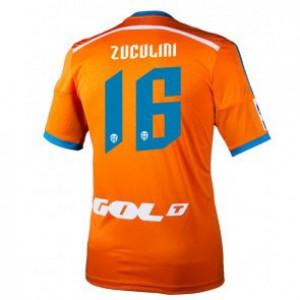 Camiseta del Bruno Zuculini Valencia Segunda Equipacion 2014/2015
