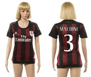 Mujer Camiseta del 3 AC Milan 2015/2016