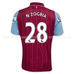 Camiseta nueva del Aston Villa 2014/15 Equipacion N_Zogbia Primera