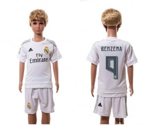 Camiseta Real Madrid 9 Home 2015/2016 Niños