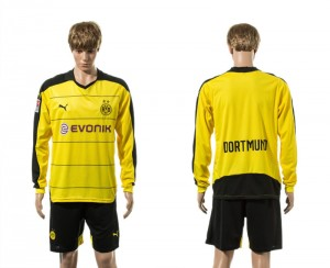 Camiseta de Dortmund 15/16 Primera Manga Larga