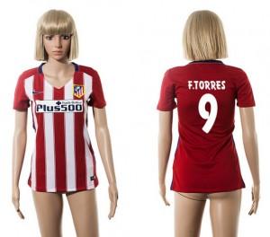 Mujer Camiseta del 9 Atletico Madrid 2015/2016