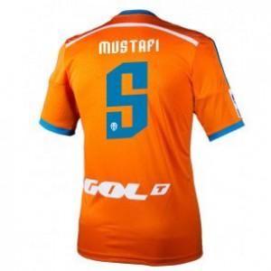 Camiseta nueva del Valencia 2014/2015 Equipacion Shkodran Mustafi Segunda