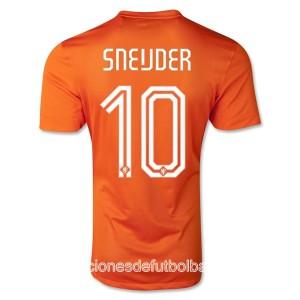 Camiseta de Holanda de la Seleccion WC2014 Primera Sneijder