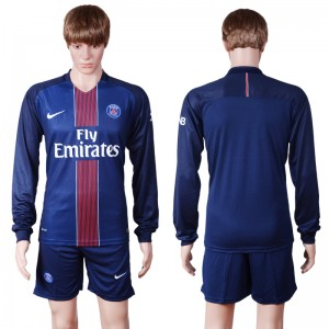 Camiseta nueva del Paris Saint Germain 2016/2017 Manga Larga Primera