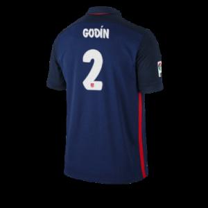 Camiseta de Atletico Madrid 2015/2016 Segunda GODIN Equipacion