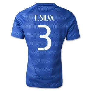 Camiseta del T.Silva Brasil de la Seleccion Segunda WC2014
