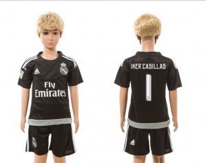 Camiseta de Real Madrid 2015/2016 goalkeeper 01 Niños