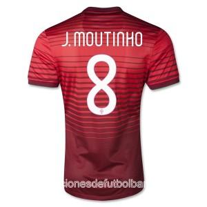 Camiseta Portugal de la Seleccion J Moutinho Primera 2013/2014