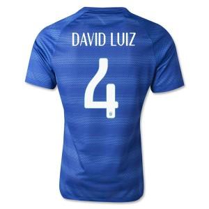 Camiseta nueva del Brasil de la Seleccion WC2014 David Luiz Segunda