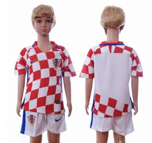 Camiseta nueva del Croacia 2016 Niños Primera Segunda