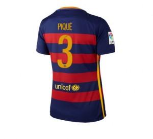 Camiseta nueva Barcelona Mujer Numero 03 Equipacion Primera 2015/2016