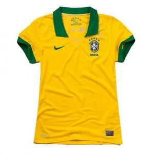 Mujer Camiseta del Brasil de la Seleccion Primera 2013/2014