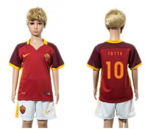 Camiseta de AS Roma 2015/2016 10 Niños