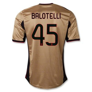 Camiseta nueva del AC Milan 2013/2014 Equipacion Balotelli Tercera