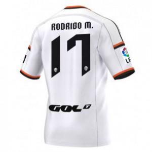 Camiseta Valencia Rodrigo Primera Equipacion 2014/2015