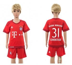 Camiseta Bayern Munich 31 Home 2015/2016 Niños
