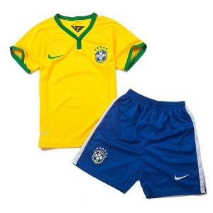 Camiseta de Brasil de la Seleccion WC2014 Primera Nino