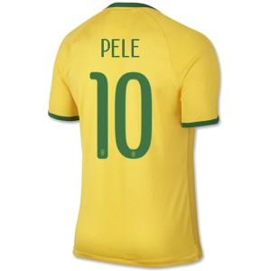 Camiseta Brasil de la Seleccion Pele Primera WC2014