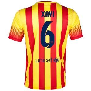 Camiseta de Barcelona 2013/2014 Segunda Xavi Equipacion