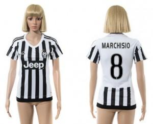 Mujer Camiseta del 8 Juventus 2015/2016