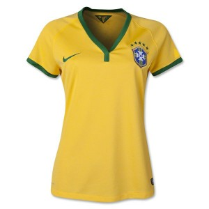 Camiseta nueva Brasil de la Seleccion Mujer Primera WC2014