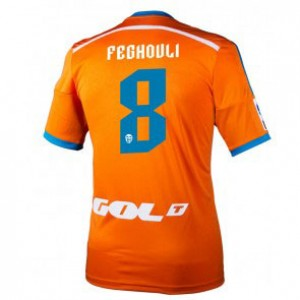 Camiseta nueva del Valencia 2014/2015 Equipacion Sofiane Feghouli Segunda