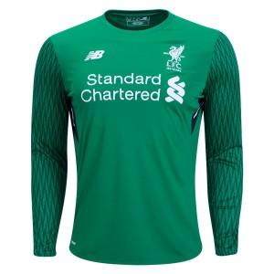 Camiseta de Liverpool 2017/2018 Home Goalkeeper Long Sleeve