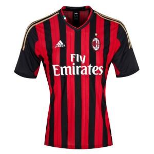 Camiseta nueva del AC Milan 2013/2014 Tailandia Primera