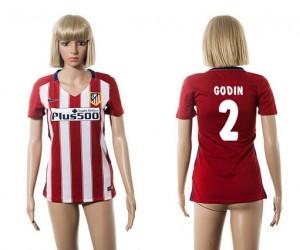 Mujer Camiseta del 2 Atletico Madrid 2015/2016