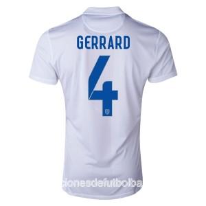 Camiseta del Gerrard Inglaterra de la Seleccion Primera WC2014