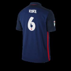 Camiseta Atletico Madrid KOKE Segunda Equipacion 2015/2016