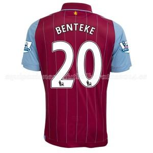 Camiseta Aston Villa Benteke Primera Equipacion 2014/15
